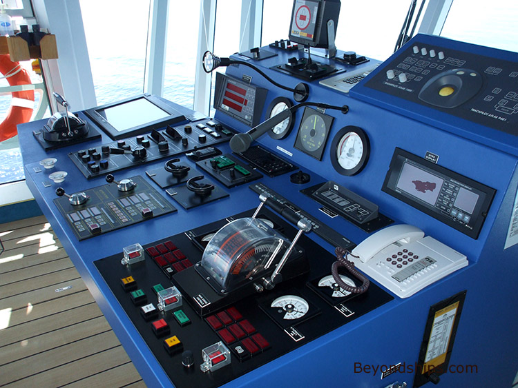 Caribbean Princess Tour And Commentary Page - Cruise ship controls