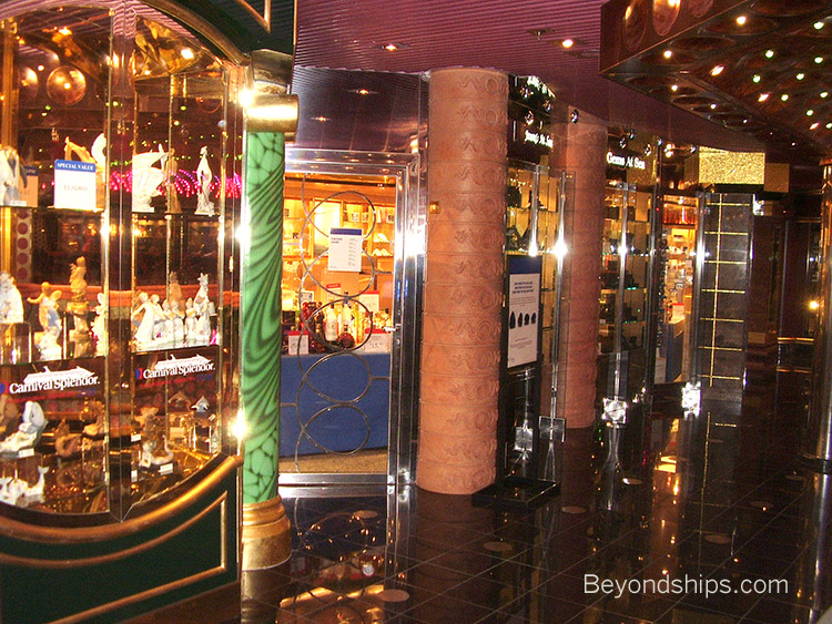 Carnival Splendor Photo Tour And Commentary Page - Cruise ship shops