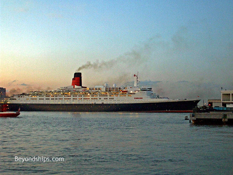 QE From The Hythe Ferry - Qe2 cruise ship