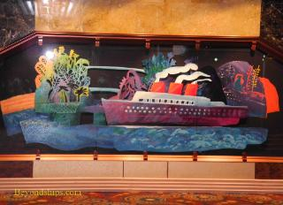 Carnival Paradise cruise ship art