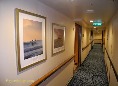 Royal Princess cruise ship, passenger hallway