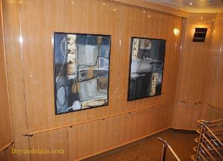 Royal Princess cruise ship, art