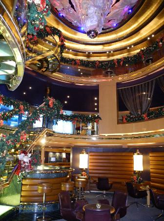 Cruise ship Eurodam atrium