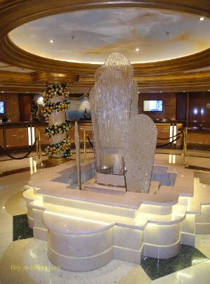 Royal Princess cruise ship, sculpture