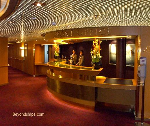 Cruise ship Eurodam front office