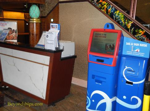 future cruise desk, Carnival Paradise cruise ship