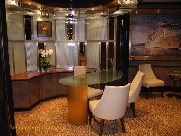 Future cruise desk, Regal Princess, cruise ship