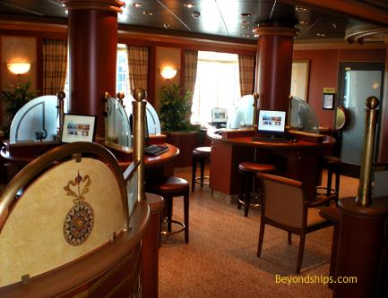 Ruby Princess, cruise ship interior
