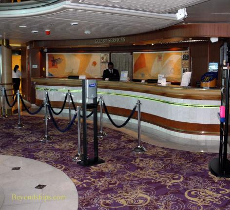 Cruise ship Legend of the Seas, guest services desk