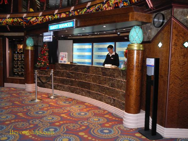 Carnival Paradise cruise ship guest services desk