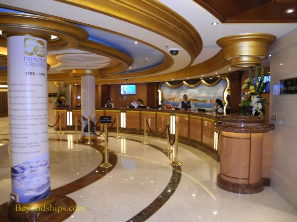 Passenger Services desk, Regal Princess, cruise ship