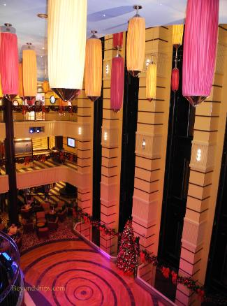 Carnival Breeze cruise ship atrium