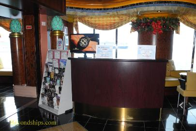 Carnival Paradise cruise ship port shopping desk