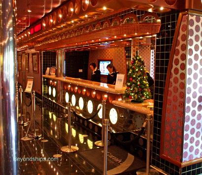 Guest Services desk, Cruise ship Carnival Splendor