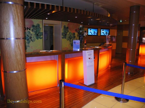 reception desk AIDAbella cruise ship