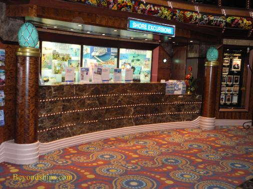 Carnival Paradise cruise ship shore excursions desk