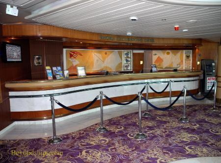 Cruise ship Legend of the Seas, shore excursions desk