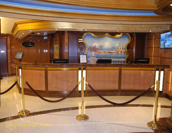 Regal Princess, cruise ship, shore excursions desk