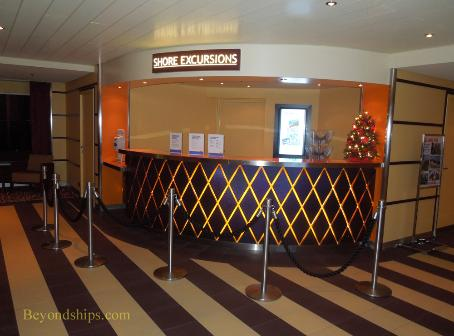 Carnival Breeze cruise ship Shore Excursions Desk