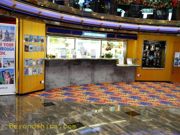 Carnival Ecstasy shore excursions desk
