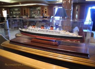 Cruise ship image - Queen Victoria - Cunard - Chart Room model