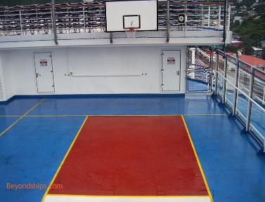 basketball court, Carnival Freedom cruise ship