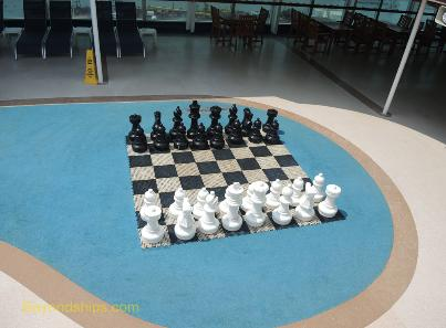 Sea Princess cruise ship, chess set