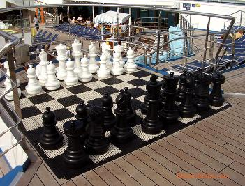 Carnival Freedom cruise ship chess