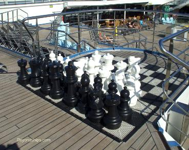 Cruise ship Carnival Conquest chess