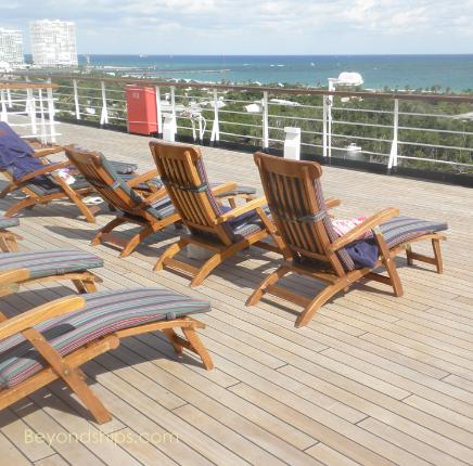 Cruise ship Westerdam deck chairs