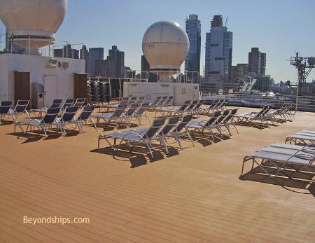 Holland America cruise ship Eurodam pools and open deck