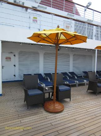 Cruise ship Carnival Conquest open deck