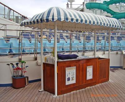 Carnival Freedom cruise ship towel hut