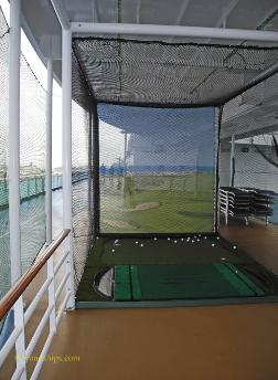 golf net, cruise ship Regal Princess