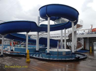 Cruise ship Carnival Paradise waterslide