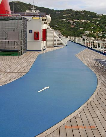 jogging track Carnival Freedom cruise ship