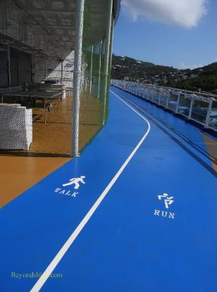 jogging track, cruise ship Regal Princess