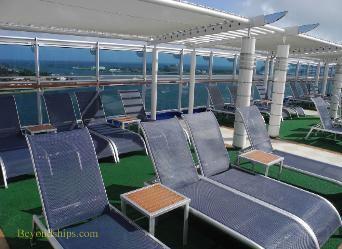 deck chairs, cruise ship Regal Princess
