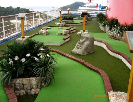Carnival Freedom cruise ship mini golf