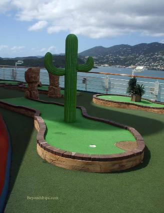 Carnival Liberty mini golf