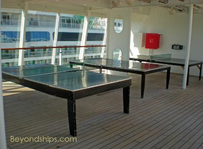 ping pong tables on Norwegian Sky