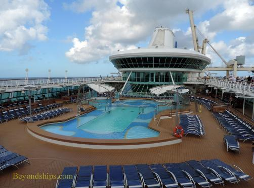 Cruise ship Legend of the Seas pool deck