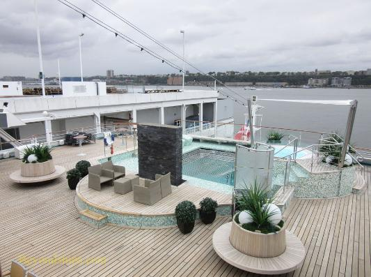 Amadea cruise ship, kruezschiffe, pool deck