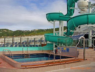Carnival Freedom cruise ship pool