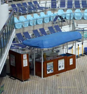 Carnival Liberty pool deck