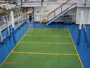 Carnival Freedom cruise ship volley ball