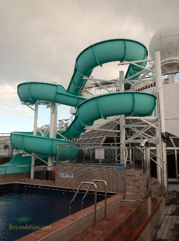 Carnival Freedom cruise ship water slide
