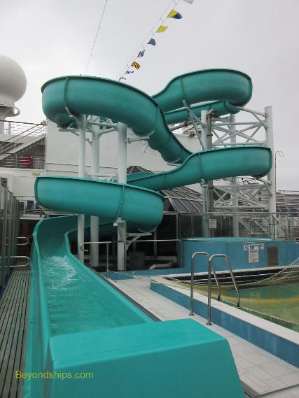 Cruise ship Carnival Conquest waterslide