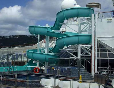 Carnival Liberty waterslide