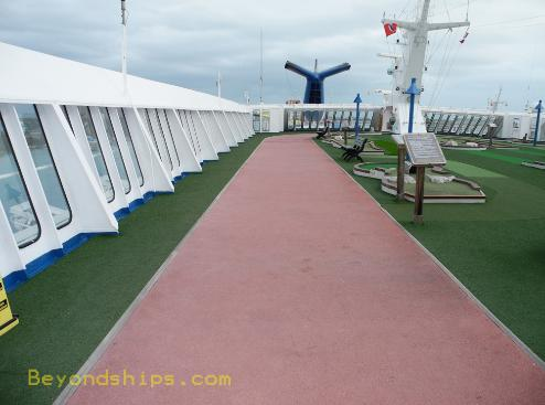 cruise ship Carnival Ecstasy jogging